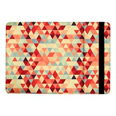 Modern Hipster Triangle Pattern Red Blue Beige Samsung Galaxy Tab Pro 10 1  Flip Case