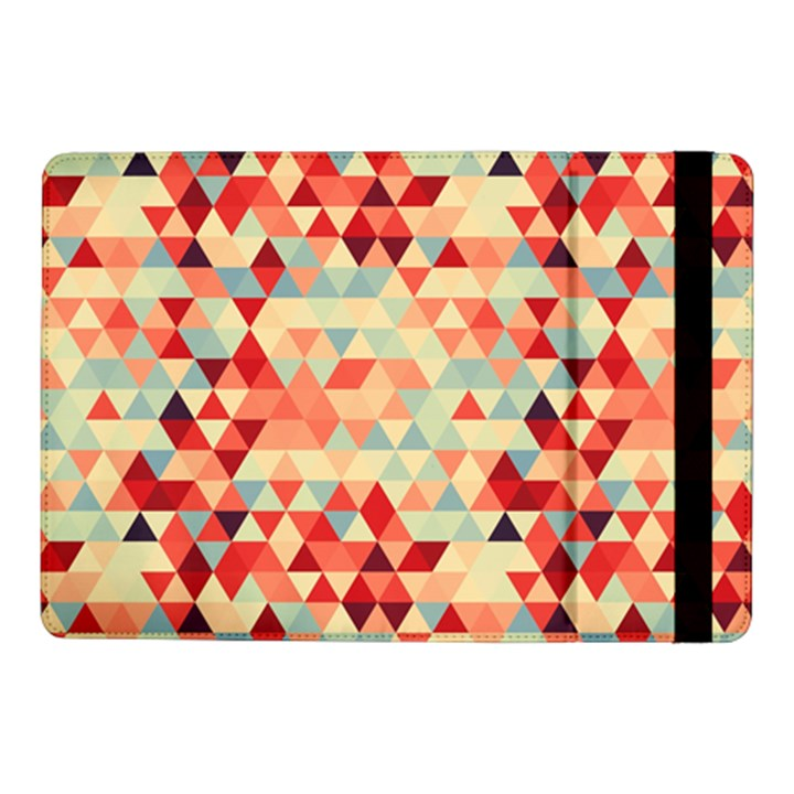 Modern Hipster Triangle Pattern Red Blue Beige Samsung Galaxy Tab Pro 10.1  Flip Case