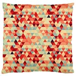 Modern Hipster Triangle Pattern Red Blue Beige Standard Flano Cushion Case (Two Sides) Front