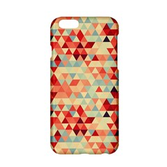 Modern Hipster Triangle Pattern Red Blue Beige Apple Iphone 6/6s Hardshell Case by EDDArt