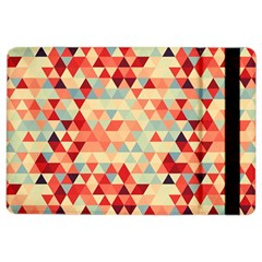 Modern Hipster Triangle Pattern Red Blue Beige Ipad Air 2 Flip by EDDArt