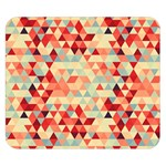 Modern Hipster Triangle Pattern Red Blue Beige Double Sided Flano Blanket (Small)  50 x40 Blanket Back