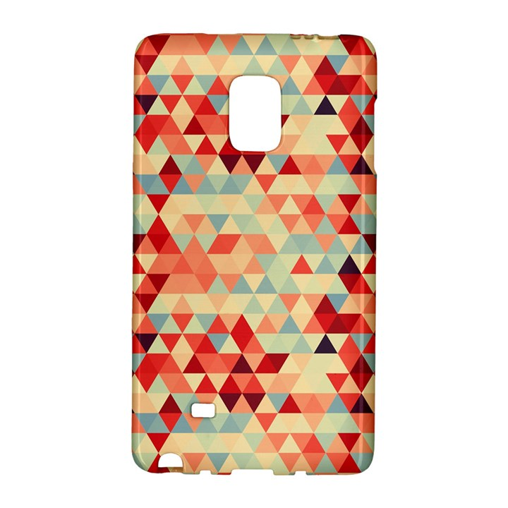 Modern Hipster Triangle Pattern Red Blue Beige Galaxy Note Edge