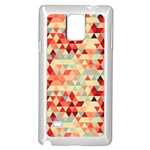 Modern Hipster Triangle Pattern Red Blue Beige Samsung Galaxy Note 4 Case (White) Front