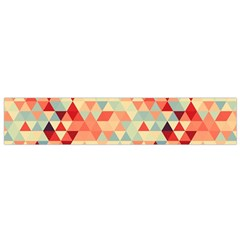 Modern Hipster Triangle Pattern Red Blue Beige Flano Scarf (small) by EDDArt