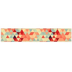 Modern Hipster Triangle Pattern Red Blue Beige Flano Scarf (large) by EDDArt
