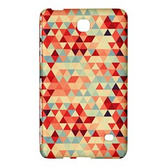 Modern Hipster Triangle Pattern Red Blue Beige Samsung Galaxy Tab 4 (8 ) Hardshell Case  by EDDArt