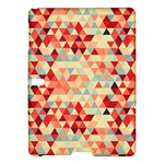 Modern Hipster Triangle Pattern Red Blue Beige Samsung Galaxy Tab S (10.5 ) Hardshell Case