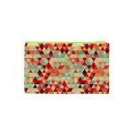 Modern Hipster Triangle Pattern Red Blue Beige Cosmetic Bag (XS) Back