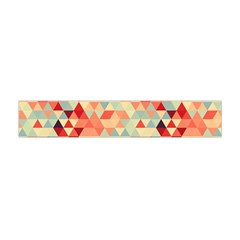 Modern Hipster Triangle Pattern Red Blue Beige Flano Scarf (mini) by EDDArt