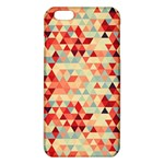Modern Hipster Triangle Pattern Red Blue Beige iPhone 6 Plus/6S Plus TPU Case Front