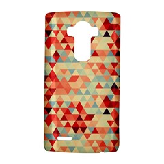 Modern Hipster Triangle Pattern Red Blue Beige Lg G4 Hardshell Case by EDDArt