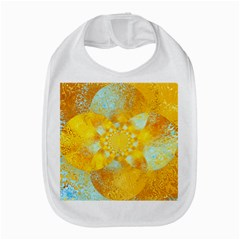 Gold Blue Abstract Blossom Bib by designworld65