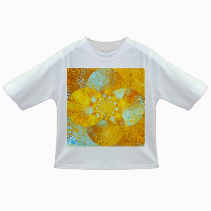 Gold Blue Abstract Blossom Infant/Toddler T-Shirts