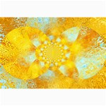 Gold Blue Abstract Blossom Collage Prints