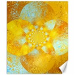 Gold Blue Abstract Blossom Canvas 8  x 10