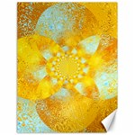 Gold Blue Abstract Blossom Canvas 18  x 24   24 x18 Canvas - 1