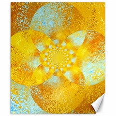 Gold Blue Abstract Blossom Canvas 20  X 24   by designworld65
