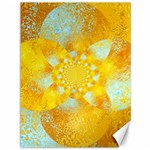 Gold Blue Abstract Blossom Canvas 36  x 48   48 x36 Canvas - 1