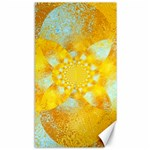 Gold Blue Abstract Blossom Canvas 40  x 72