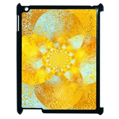 Gold Blue Abstract Blossom Apple Ipad 2 Case (black)
