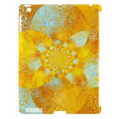 Gold Blue Abstract Blossom Apple Ipad 3/4 Hardshell Case (compatible With Smart Cover) by designworld65