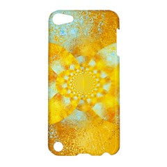 Gold Blue Abstract Blossom Apple Ipod Touch 5 Hardshell Case by designworld65