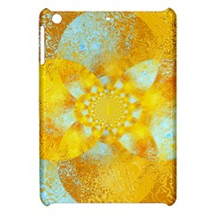 Gold Blue Abstract Blossom Apple Ipad Mini Hardshell Case by designworld65
