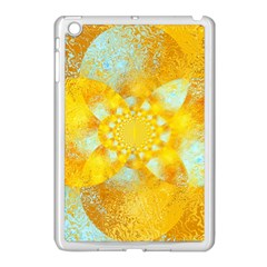 Gold Blue Abstract Blossom Apple Ipad Mini Case (white)