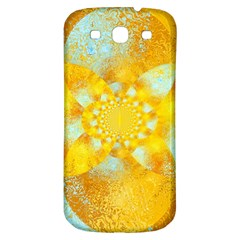 Gold Blue Abstract Blossom Samsung Galaxy S3 S Iii Classic Hardshell Back Case