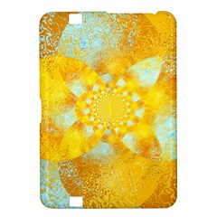 Gold Blue Abstract Blossom Kindle Fire Hd 8 9  by designworld65