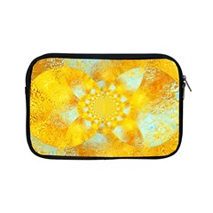Gold Blue Abstract Blossom Apple Ipad Mini Zipper Cases by designworld65
