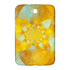 Gold Blue Abstract Blossom Samsung Galaxy Note 8 0 N5100 Hardshell Case  by designworld65