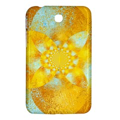 Gold Blue Abstract Blossom Samsung Galaxy Tab 3 (7 ) P3200 Hardshell Case  by designworld65