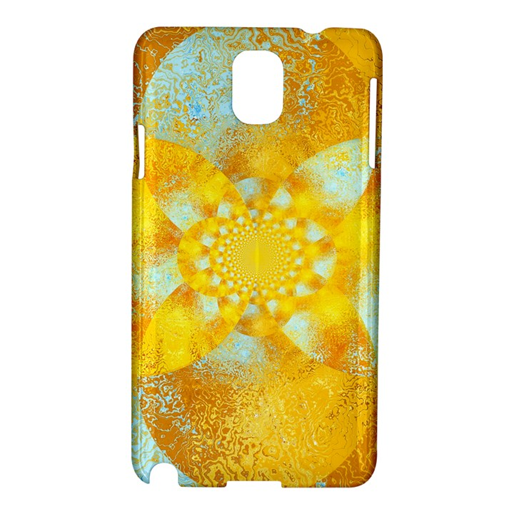 Gold Blue Abstract Blossom Samsung Galaxy Note 3 N9005 Hardshell Case