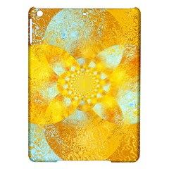 Gold Blue Abstract Blossom Ipad Air Hardshell Cases by designworld65