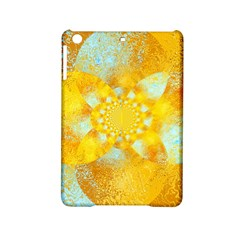 Gold Blue Abstract Blossom Ipad Mini 2 Hardshell Cases by designworld65