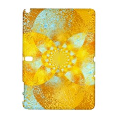 Gold Blue Abstract Blossom Samsung Galaxy Note 10 1 (p600) Hardshell Case