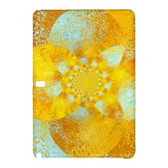 Gold Blue Abstract Blossom Samsung Galaxy Tab Pro 12 2 Hardshell Case by designworld65