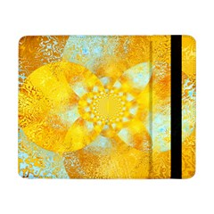 Gold Blue Abstract Blossom Samsung Galaxy Tab Pro 8 4  Flip Case by designworld65