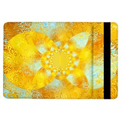 Gold Blue Abstract Blossom Ipad Air Flip by designworld65