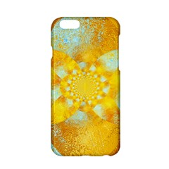 Gold Blue Abstract Blossom Apple Iphone 6/6s Hardshell Case by designworld65