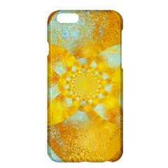 Gold Blue Abstract Blossom Apple Iphone 6 Plus/6s Plus Hardshell Case by designworld65