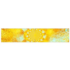 Gold Blue Abstract Blossom Flano Scarf (small) by designworld65