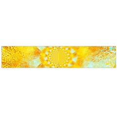 Gold Blue Abstract Blossom Flano Scarf (large) by designworld65