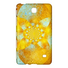 Gold Blue Abstract Blossom Samsung Galaxy Tab 4 (8 ) Hardshell Case  by designworld65