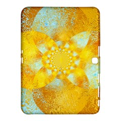 Gold Blue Abstract Blossom Samsung Galaxy Tab 4 (10 1 ) Hardshell Case  by designworld65