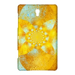 Gold Blue Abstract Blossom Samsung Galaxy Tab S (8 4 ) Hardshell Case  by designworld65