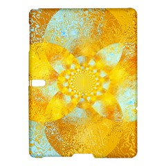 Gold Blue Abstract Blossom Samsung Galaxy Tab S (10 5 ) Hardshell Case