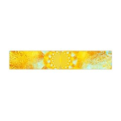 Gold Blue Abstract Blossom Flano Scarf (mini) by designworld65